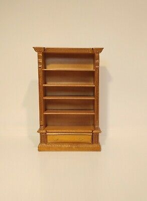Dolls house miniature 1:12 scale Bookcase or display Shelves