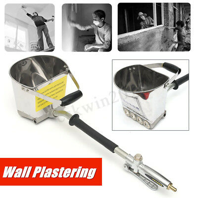 Air Stucco  Cement Mortar Hopper Sprayer Gun 4 Jet Paint Wall Concrete