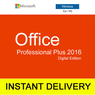 Microsoft Office 2016 Professional Plus 32/64bit Windows Lifetime INSTANT