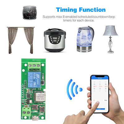 Wifi Switch Wireless Relay Module APP Control for Access Control System AH533