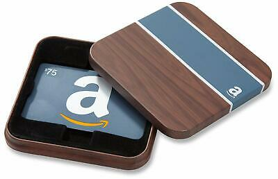 $50 Amazon Gift Card in a Brown & Blue Tin (Classic Blue Card Design)