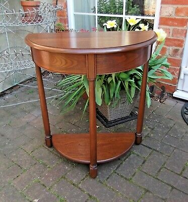 Good Ercol Golden Dawn Elm Old Colonial Side Table~Demi-Lune~Console~Hall Table