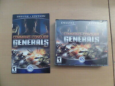 Command & Conquer GENERALS Deluxe Edition Includes Zero Hour Expansion  PCCD *