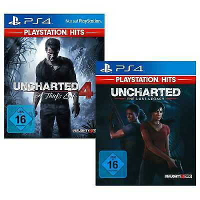 Uncharted 4 A Thiefs End + Lost Legacy Sony PS4 Spiele Doppelpack NEU&OVP