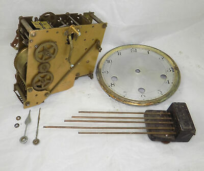 English Westminster Chime Mantel Clock Movement, Etc. - Spares Or Repair