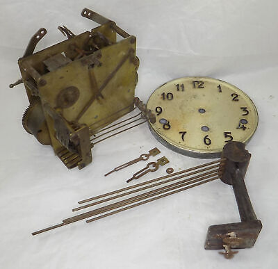 Westminster Chime Mantel Clock Movement, Etc. - Spares Or Repair