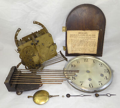 1934 Westminster Whittington St. Michaels Clock Movement, Pendulum, Dial, Etc.