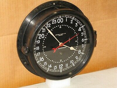 CHELSEA U.S.AIR FORCE CLOCK~8 1/2 IN~CIRCA 1966~VIETNAM ERA~24 hr.DIAL~RESTORED