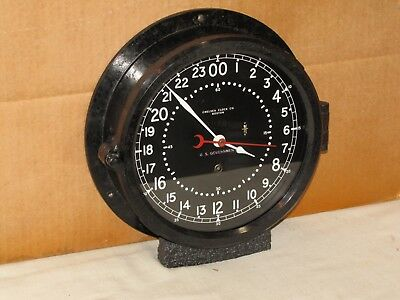 CHELSEA U.S.AIR FORCE CLOCK~8 1/2 IN~CIRCA 1968~VIETNAM ERA~24 hr.DIAL~RESTORED