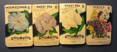 Wholesale Lot of 100 Old 1940's Vintage - FLOWER - SEED PACKETS - 410C - EMPTY