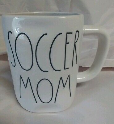 "NEW Rae Dunn by Magenta Coffee Mug in L/L ""SOCCER MOM"" Newly Released Rare HTF"