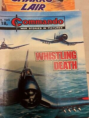 Whistling Death,commando War Stories In Pictures,no.1645,war Comic,1982