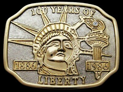 Jb15117 Vintage 1986 100 Years **The Statue Of Liberty** Belt Buckle