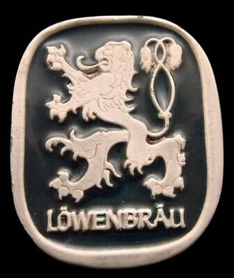 Kl10103 Great Vintage 1976 ***Lowenbrau*** Munich Style Beer Pewter Belt Buckle