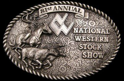 JB16162 *NOS* GREAT 1987 **81st NATIONAL WESTERN STOCK SHOW** LTD EDITION BUCKLE