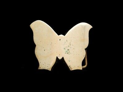 NC03157 VINTAGE 1970s CUT-OUT **BUTTERFLY**  SOLID BRASS BELT BUCKLE