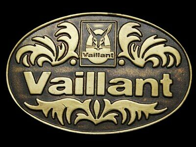 JB23154 VINTAGE 1970s ***VALILLANT INTERNATIONAL*** SOLID BRASS BELT BUCKLE