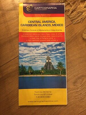 Central America, Caribbean Islands And Mexico - 1:6000000