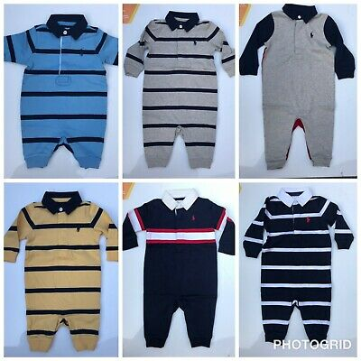 Baby boys romper rugby designer newborn 3 6 9 12 months outfit playsuit coverall