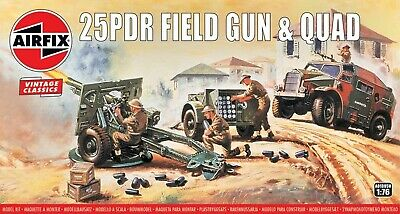 Airfix 1/76 (20mm) 25 Pounder Field Gun & Morris Quad