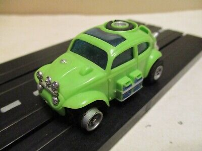 Aurora AFX slot car: VW Baja Bug (No. 1778) green