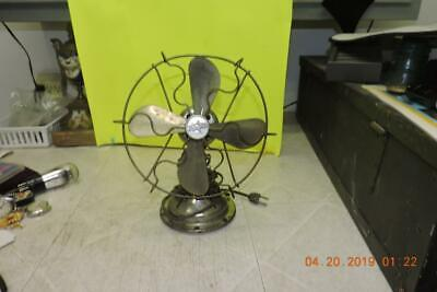 Antique Star Rite Nickel Chrome Plated Electric Desk Table Fan Fitzgerald Runs