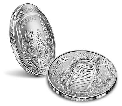 Apollo 11 50th Anniversary 2019 Uncirculated Silver Dollar, Limited Mintage