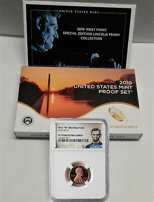 """2019 US Mint Proof Set with 2019 """"W"""" Proof Lincoln Penny, NGC PF70RD - PRESALE"""