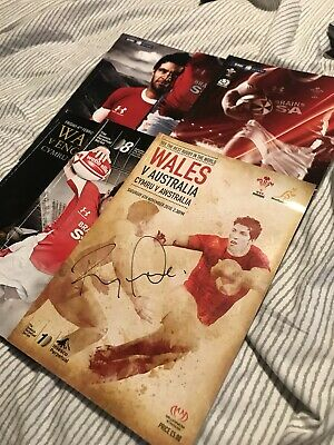 Wales Rugby Union Programmes One Signed By Ryan Jones