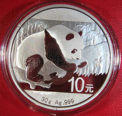 2016 - .999 Silver Chinese GIANT PANDA - 10 Yuan 30 Gram Premium Proof-Like GEM!