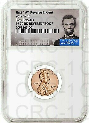 "2019 W First ""W"" Reverse PF Lincoln Cent E.R. NGC PF70 RD Reverse Proof POR"