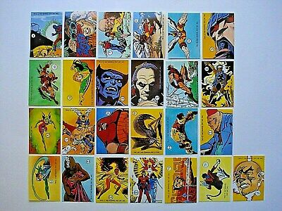 1987 Comic Images *marvel Colossal Conflicts Stickers* Lot Of 25 *rare*