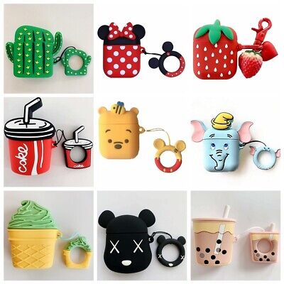 Airpods Case Cover 3D Cute Cartoon Silicone Case For Apple Airpods Accessories