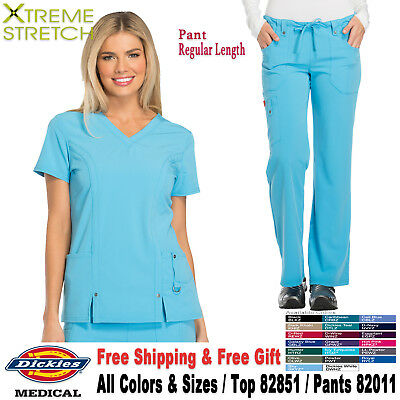 Dickies Scrubs Set XTREME STRETCH V Neck Top & Cargo Pant_82851/82011_Regular