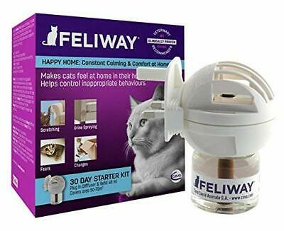 Feliway Classic 30 Day Starter Kit Diffuser Plug Refill Help Cats to Relax 48ml