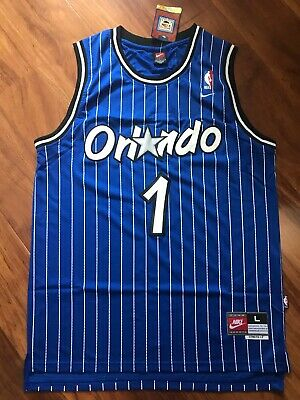 f424799ce8f Anfernee Hardaway Orlando Magic Blue Striped Throwback Stitched Jersey All  Size