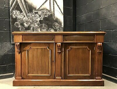 Delivery Available Vintage Antique Mahogany Sideboard Chiffonier Dresser