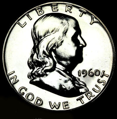 1960 Pr Pf Franklin Half Dollar Proof Gem Bu Uncirculated Silver Coin Mint State