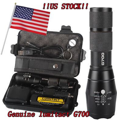 100% Genuine Lumitact G700 Super 20000lm CREE LED Tactical Flashlight Torch