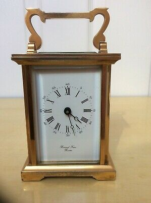 Antique 8 Day Carriage Clock Barnard Freres Bicester Made In England 7 Jewels