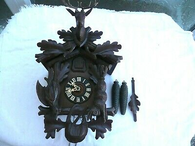 Vintage / Antique, Twin Weight Cuckoo Clock, Great Original Condition & Working.