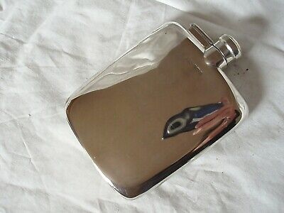 Hip Flask Vintage Sterling Silver Sheffield 1917