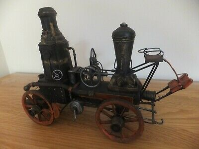 RARE Vintage Steam American Fire Engine 1:18 (approx) Metal plate