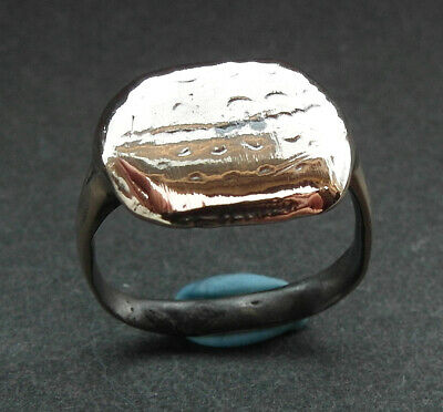 GENUINE ANCIENT MEDIEVAL BRONZE RING - wearable