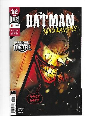 BATMAN WHO LAUGHS #1 First APP GRIM KNIGHT & DR. VETH  JOCK COVER 2018 DC