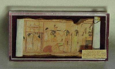 Dolls house miniature Museum / History EGYPTIAN PAPYRUS (B) IN CASE