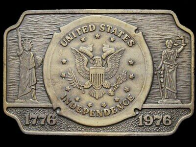 Jb21116 Great Vintage 1976 **United States Independence** National Seal Buckle