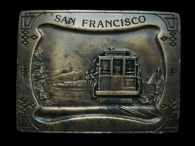 Nd11150 Vintage 1977 **San Francisco** Cable Car Belt Buckle