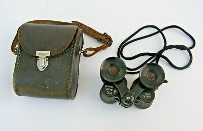 Small Cased Pair Excellent Vintage Russian USSR Binoculars 4 x 20 ~ Free UK Post