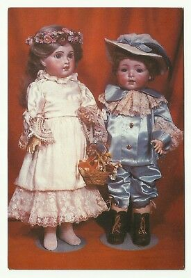 Boy doll by Kramer & Reinhardt, Germany, and S.F.B.J doll from France postcard